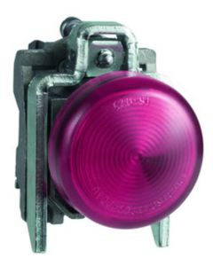 Schneider XB4BVB4 Knipperlicht Rood LED 24VACDC D22mm Metaal