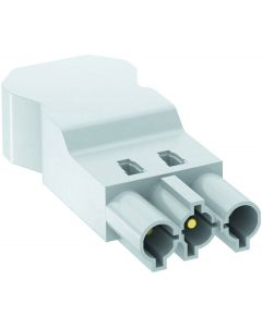 OBO ST-S4 Gst18i3 W male connector 3 pins schroefaansluiting PA wit 6108062